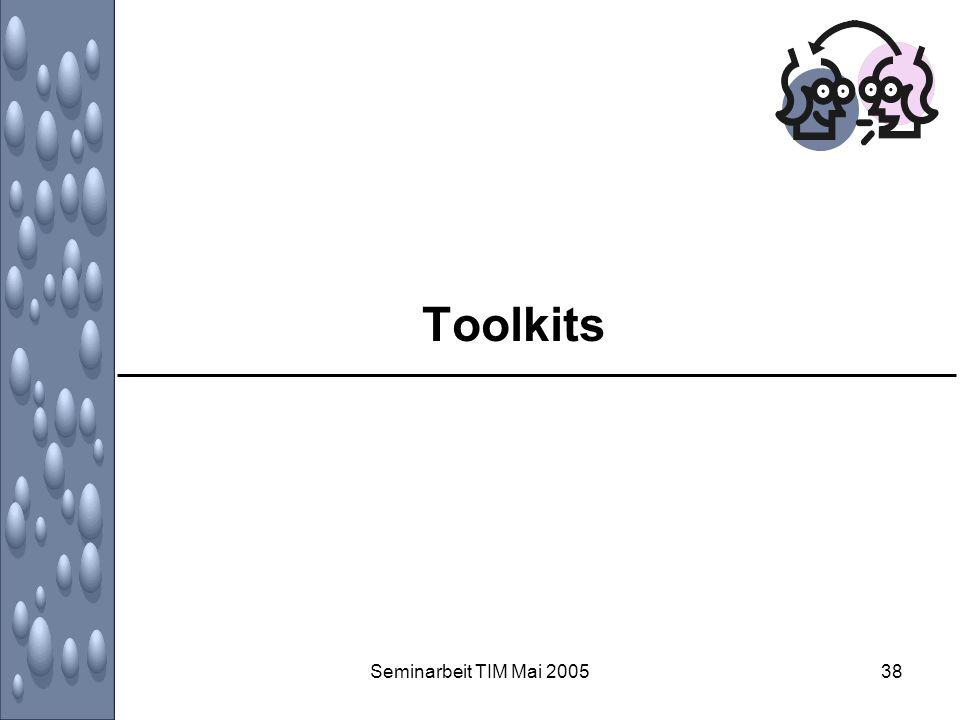 Toolkits Seminarbeit TIM Mai 2005