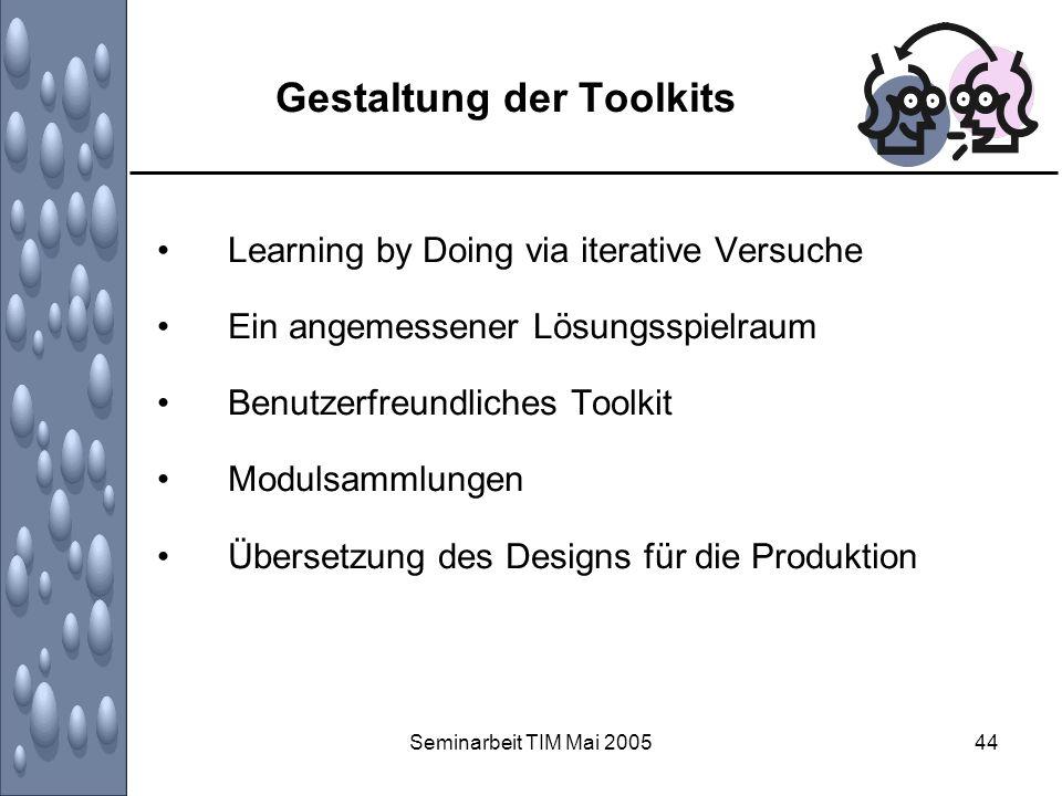 Gestaltung der Toolkits