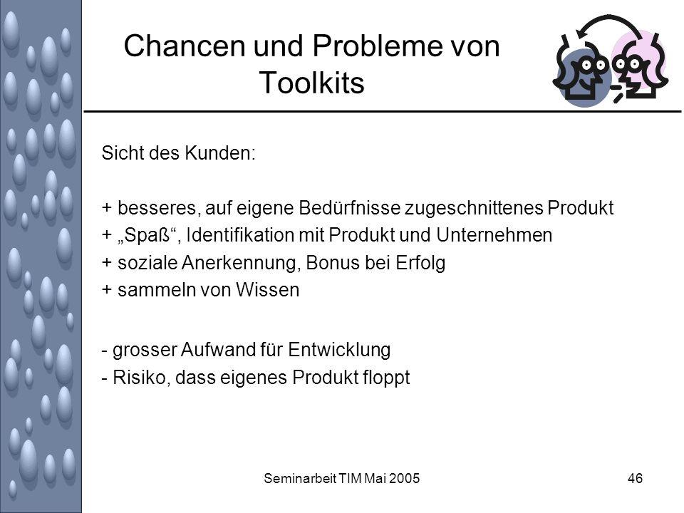 Chancen und Probleme von Toolkits