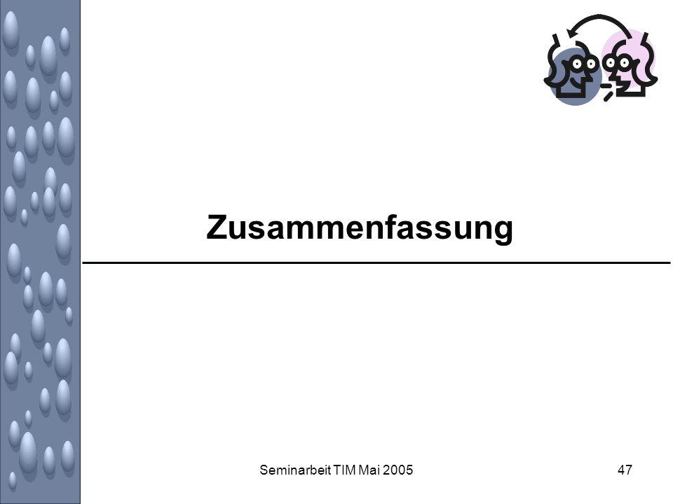 Zusammenfassung Seminarbeit TIM Mai 2005