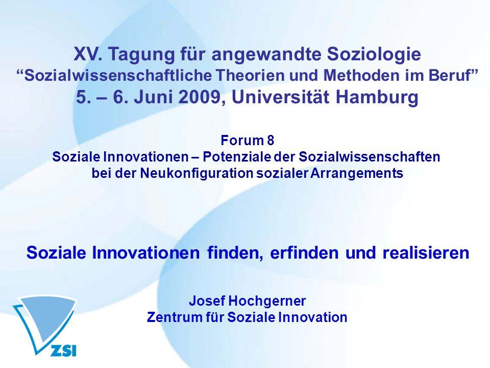 XV. Tagung für angewandte Soziologie