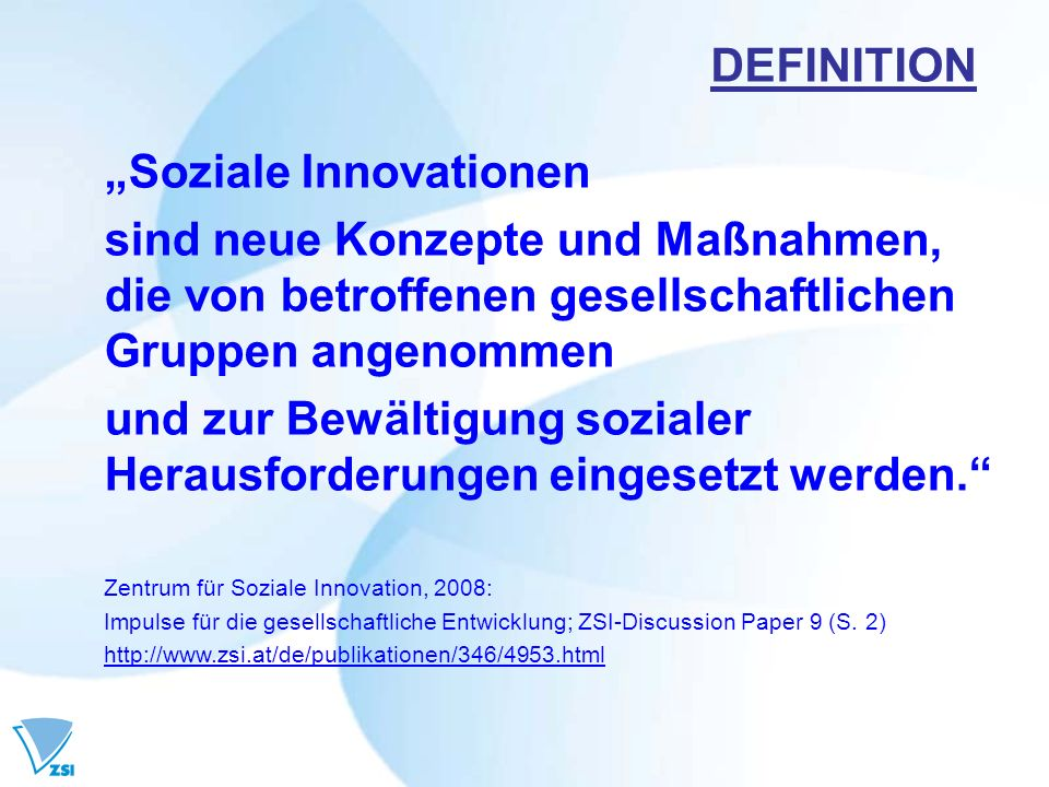 """Soziale Innovationen"