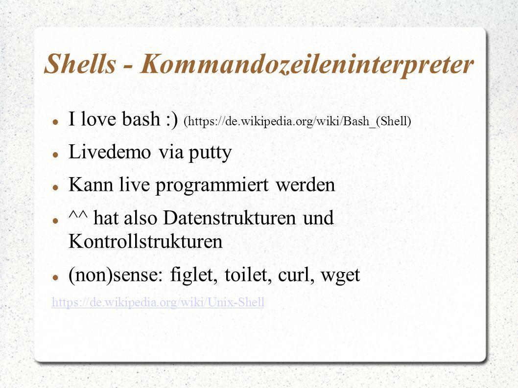 Shells - Kommandozeileninterpreter