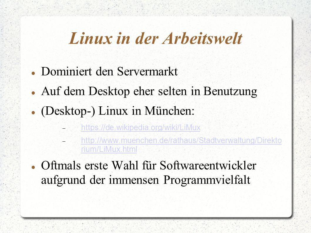 Linux in der Arbeitswelt