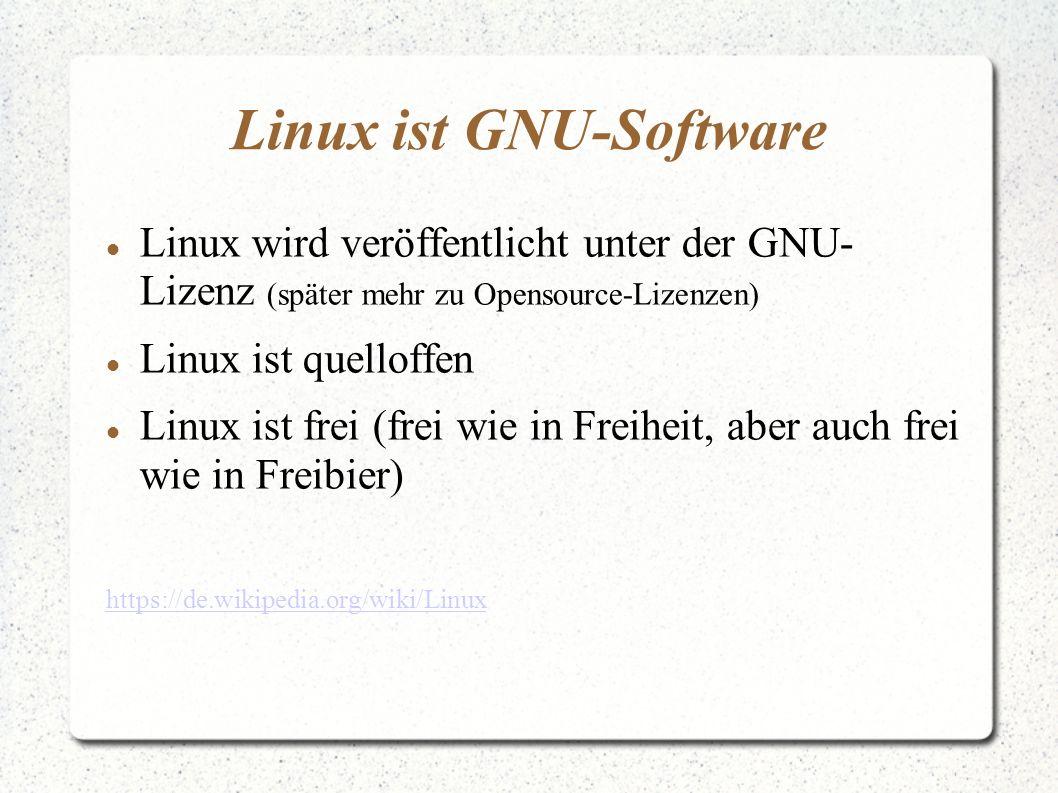 Linux ist GNU-Software