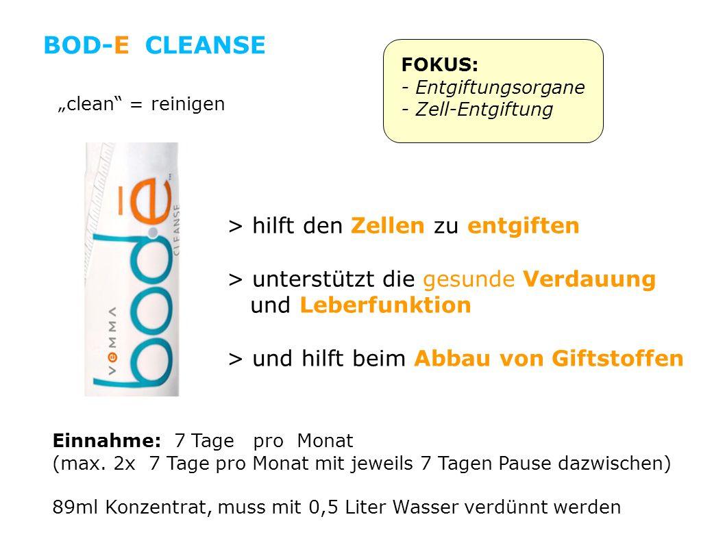 BOD-E CLEANSE > hilft den Zellen zu entgiften