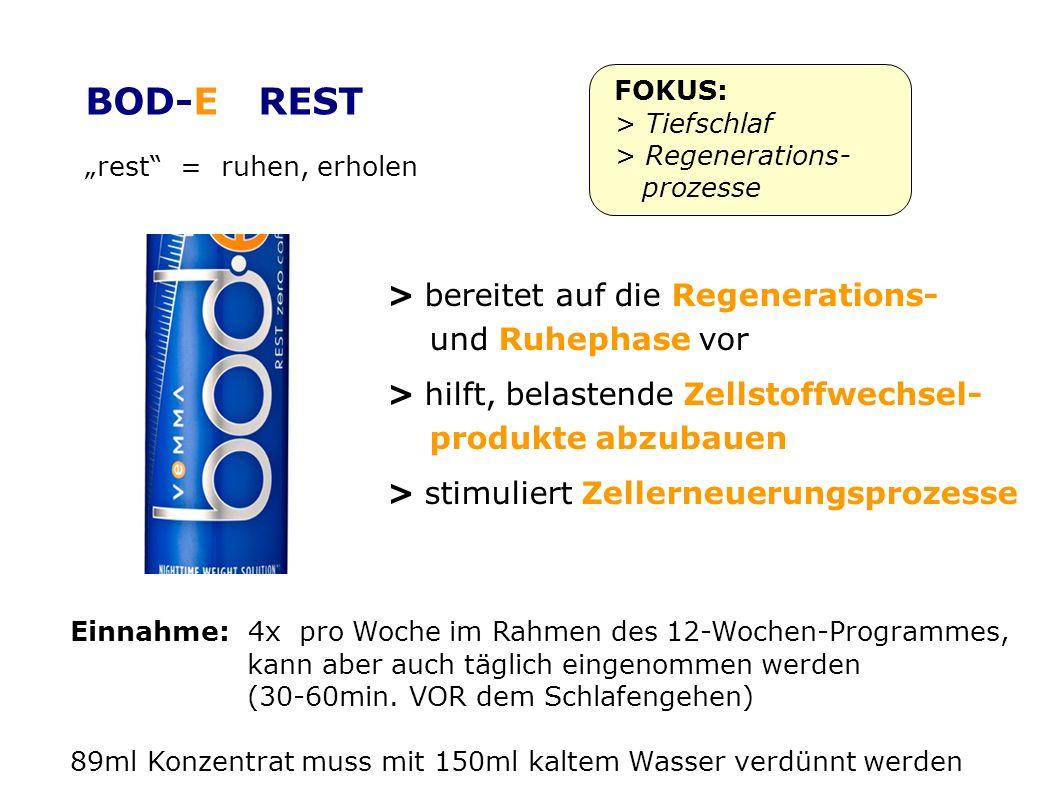 BOD-E REST > bereitet auf die Regenerations- und Ruhephase vor