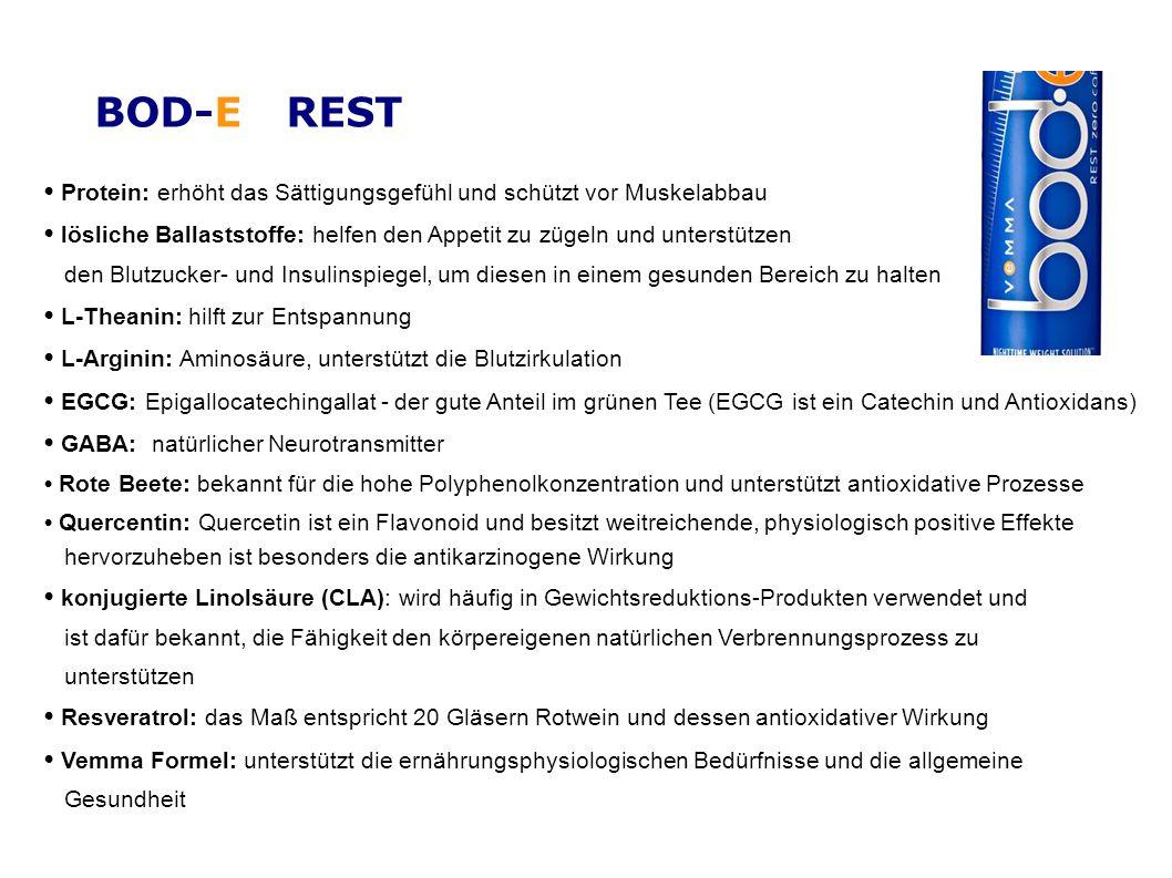 BOD-E REST • Protein: erhöht das Sättigungsgefühl und schützt vor Muskelabbau.