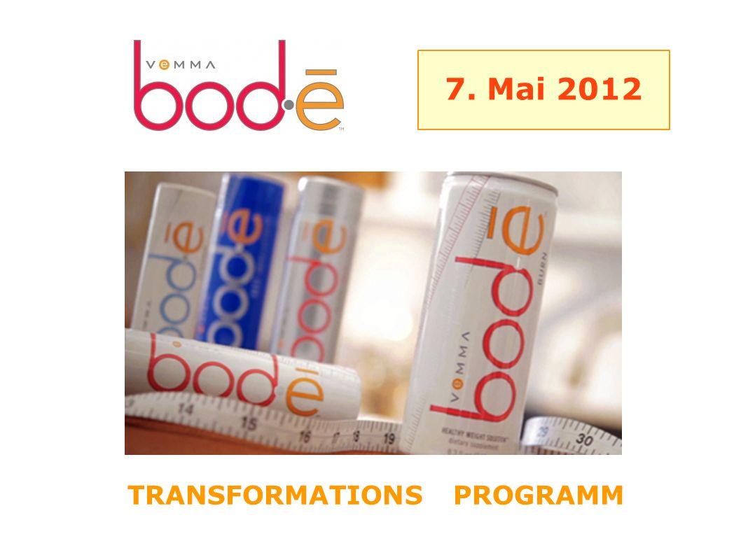 7. Mai 2012 TRANSFORMATIONS PROGRAMM