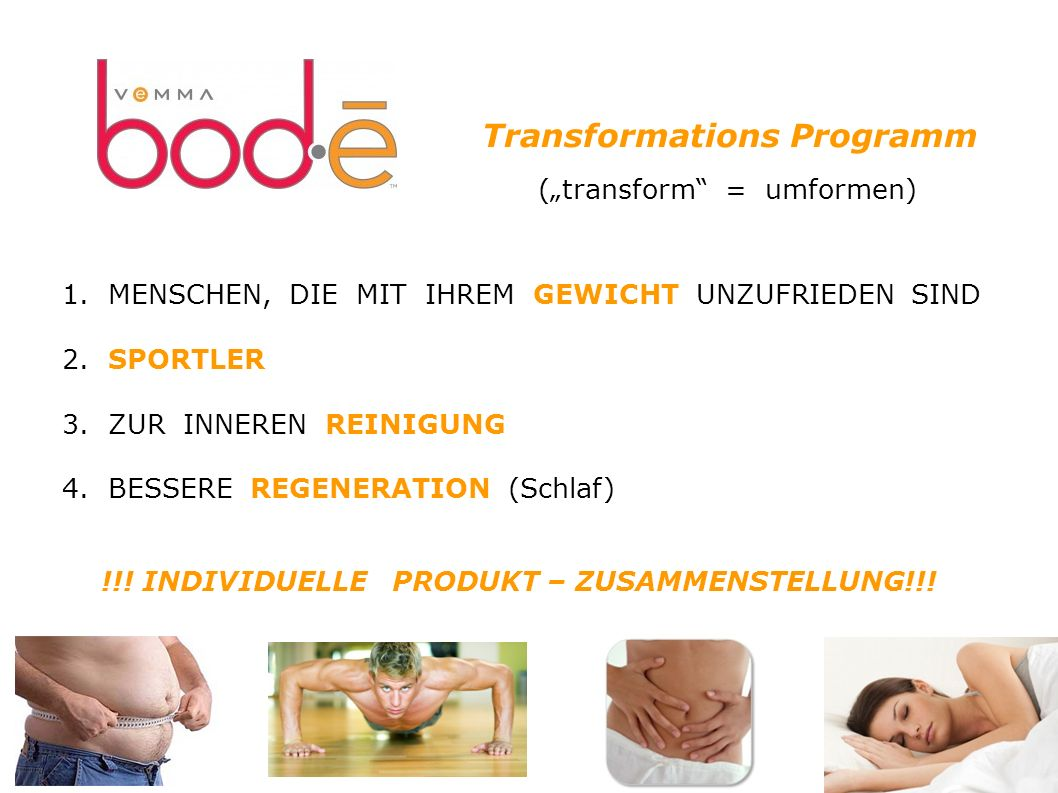 Transformations Programm