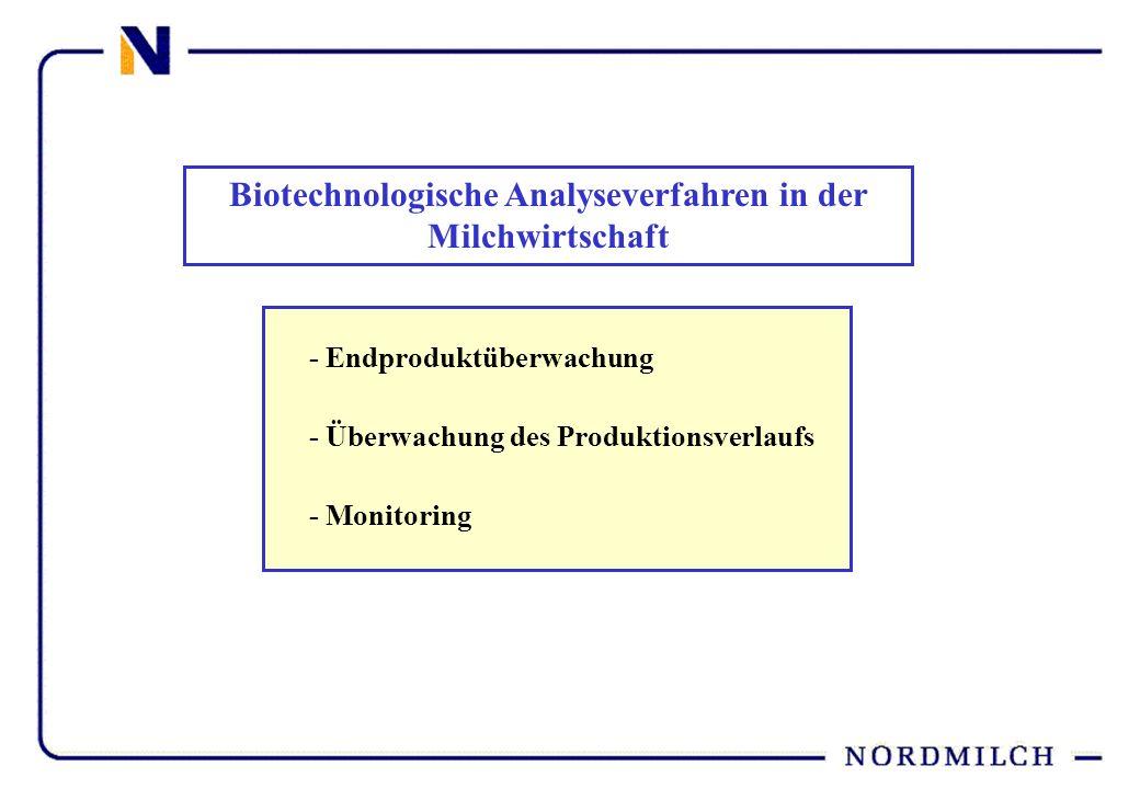 Biotechnologische Analyseverfahren in der Milchwirtschaft