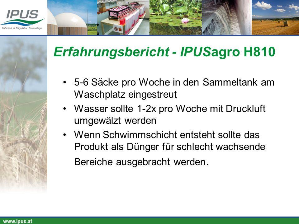 Erfahrungsbericht - IPUSagro H810