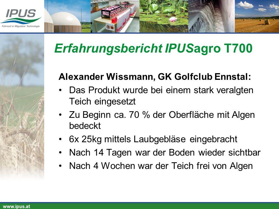 Erfahrungsbericht IPUSagro T700