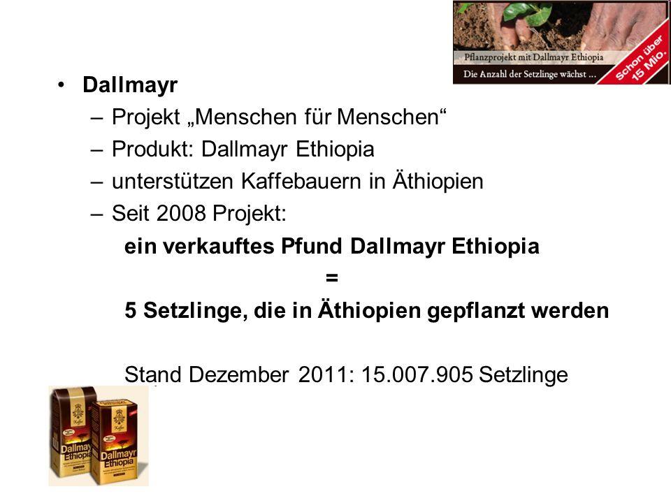 """Dallmayr Projekt """"Menschen für Menschen Produkt: Dallmayr Ethiopia. unterstützen Kaffebauern in Äthiopien."""