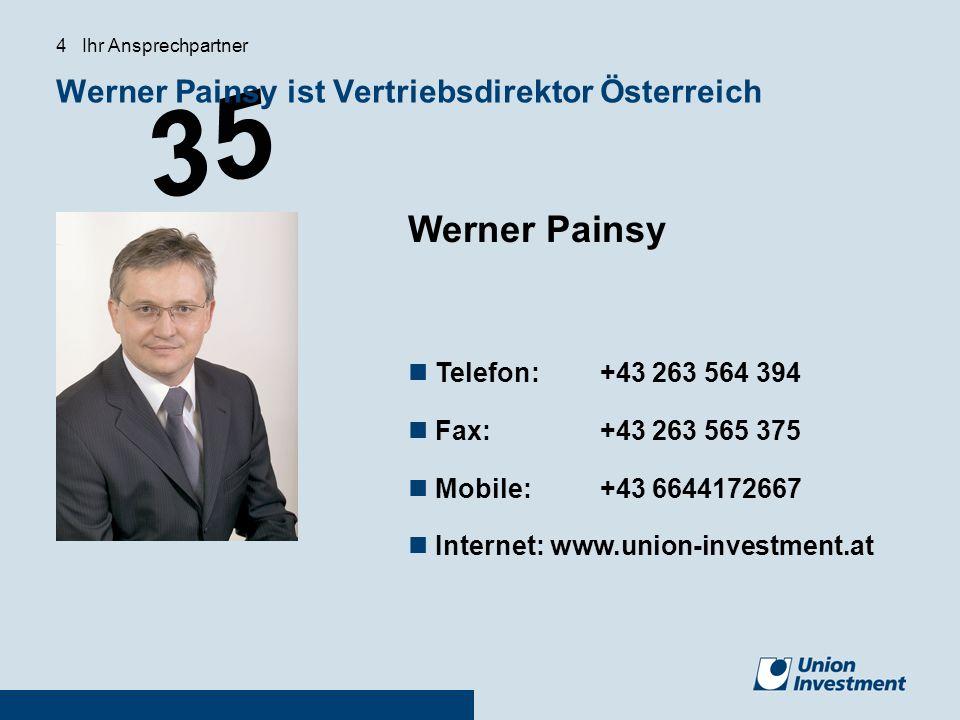 Werner Painsy ist Vertriebsdirektor Österreich