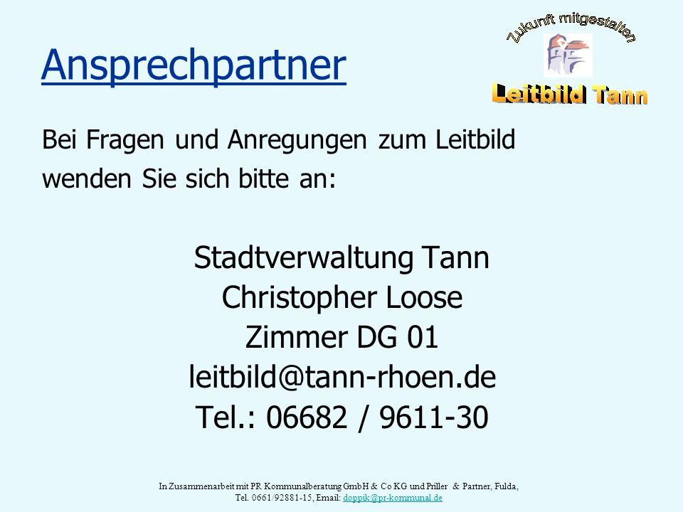 Ansprechpartner Stadtverwaltung Tann Christopher Loose Zimmer DG 01