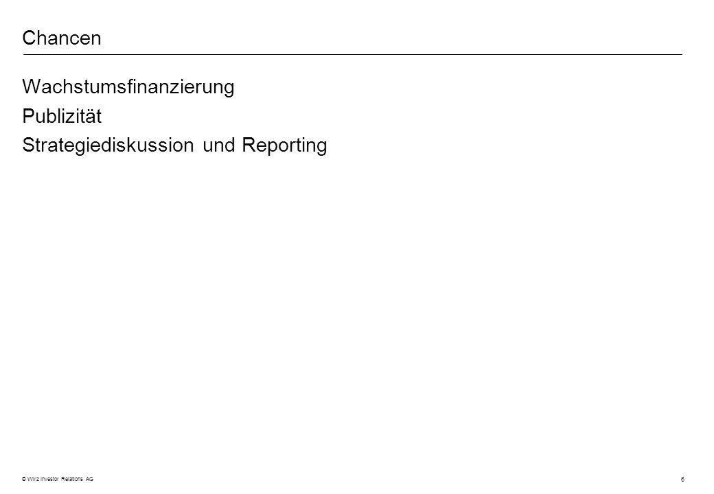 Chancen Wachstumsfinanzierung Publizität Strategiediskussion und Reporting