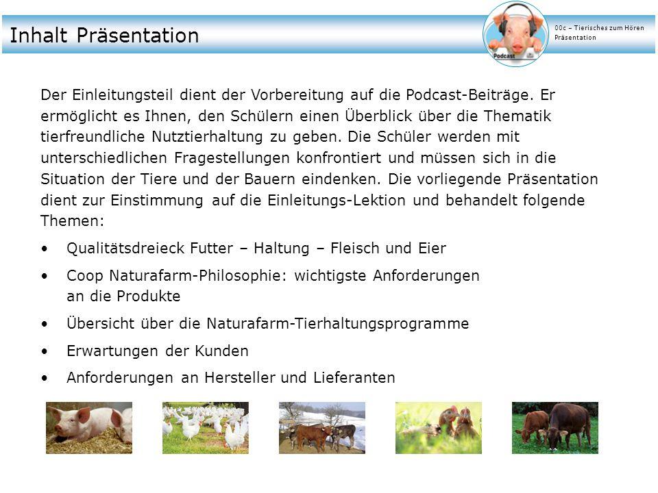 Inhalt Präsentation 00c – Tierisches zum Hören. Präsentation.