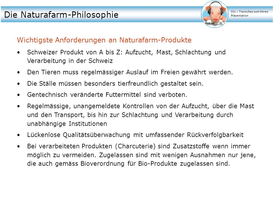 Die Naturafarm-Philosophie