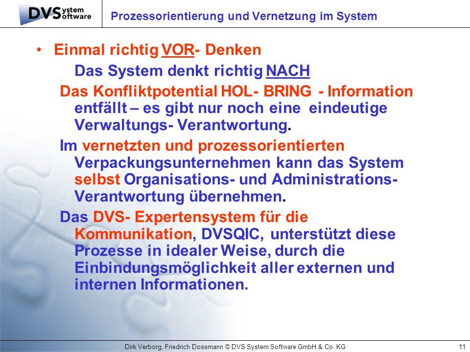 Prozessorientierung und Vernetzung im System