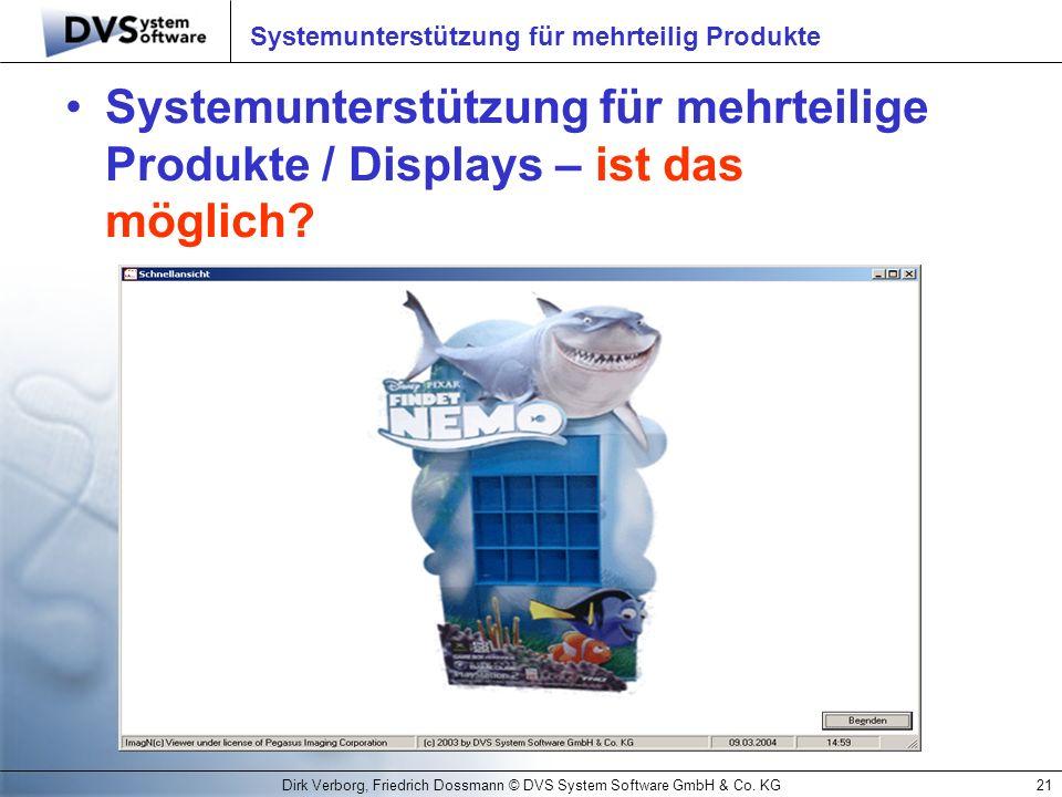 Systemunterstützung für mehrteilig Produkte
