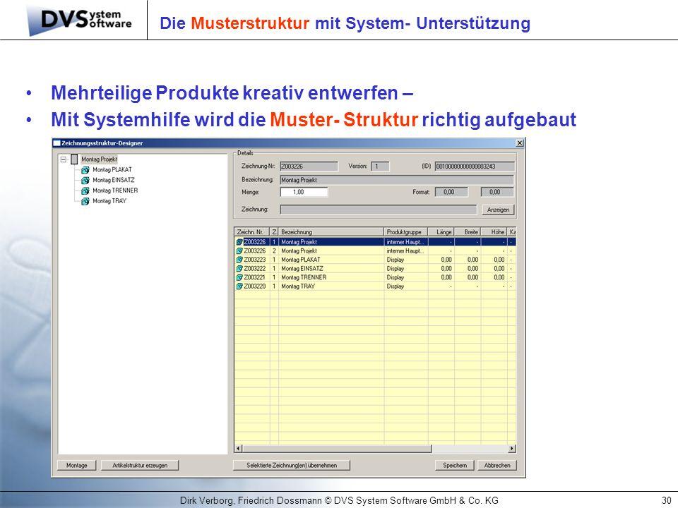 Die Musterstruktur mit System- Unterstützung