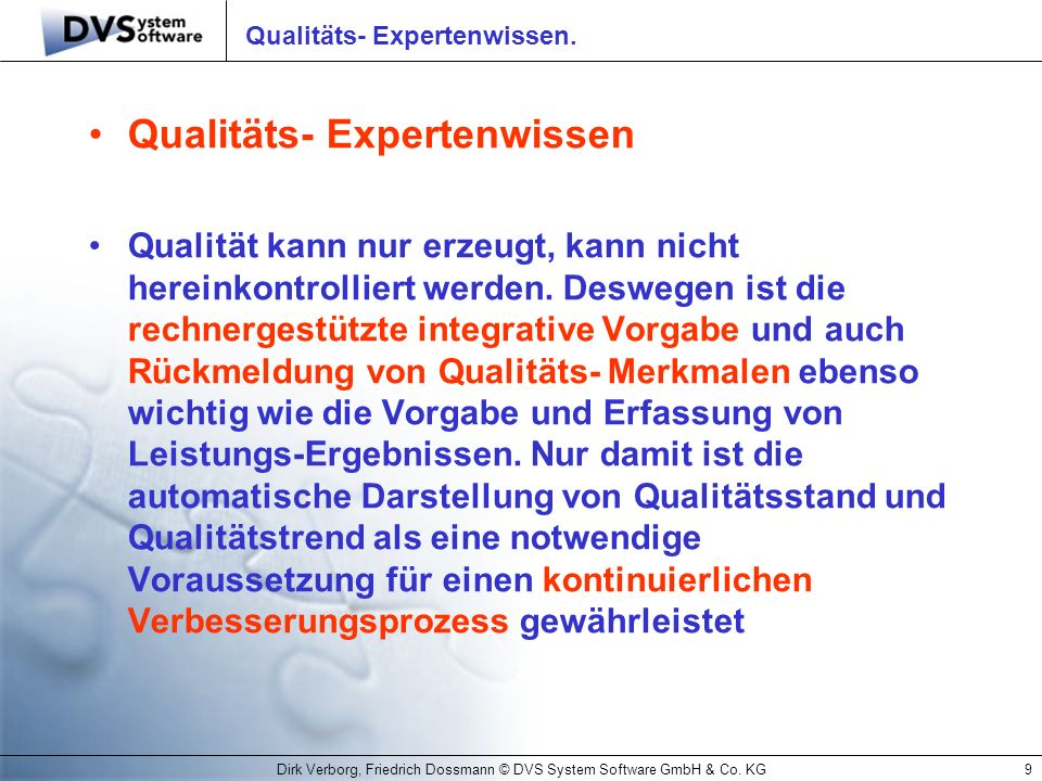 Qualitäts- Expertenwissen.