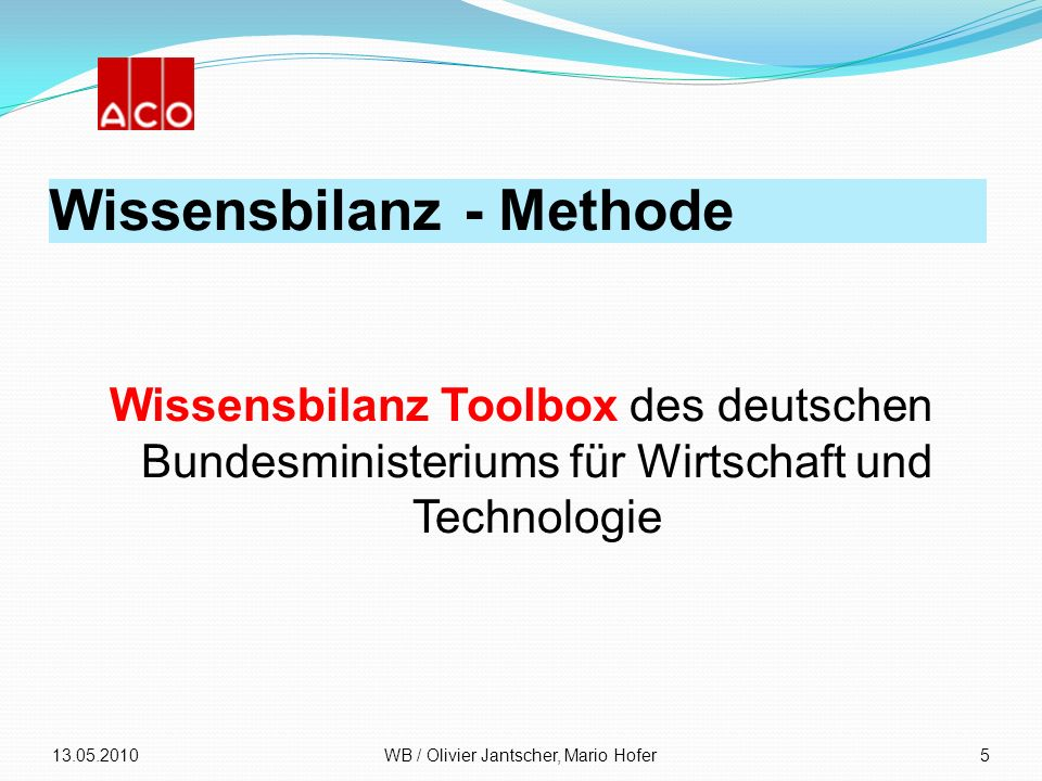 Wissensbilanz - Methode