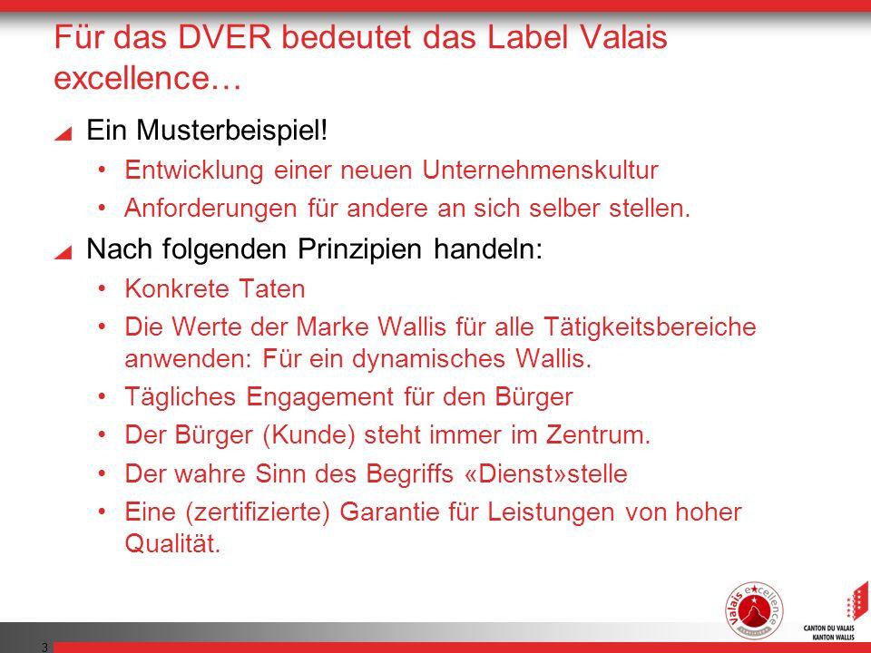 Für das DVER bedeutet das Label Valais excellence…