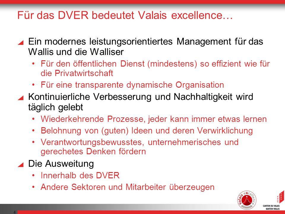 Für das DVER bedeutet Valais excellence…
