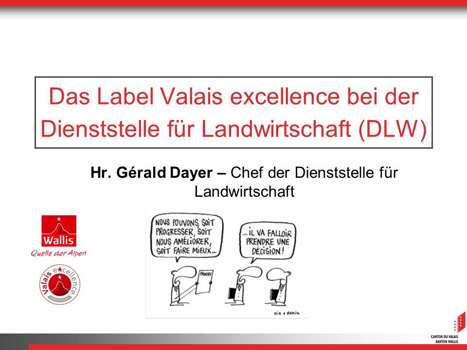 Hr. Gérald Dayer – Chef der Dienststelle für Landwirtschaft