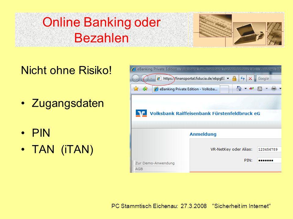 Online Banking oder Bezahlen