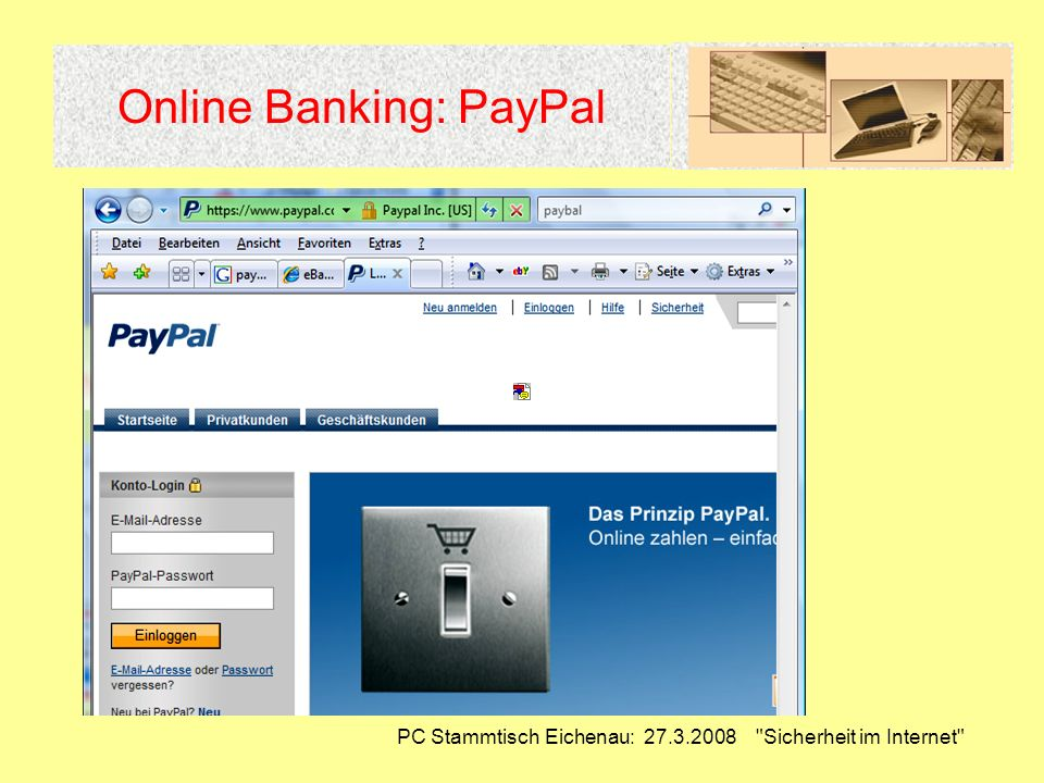 Online Banking: PayPal