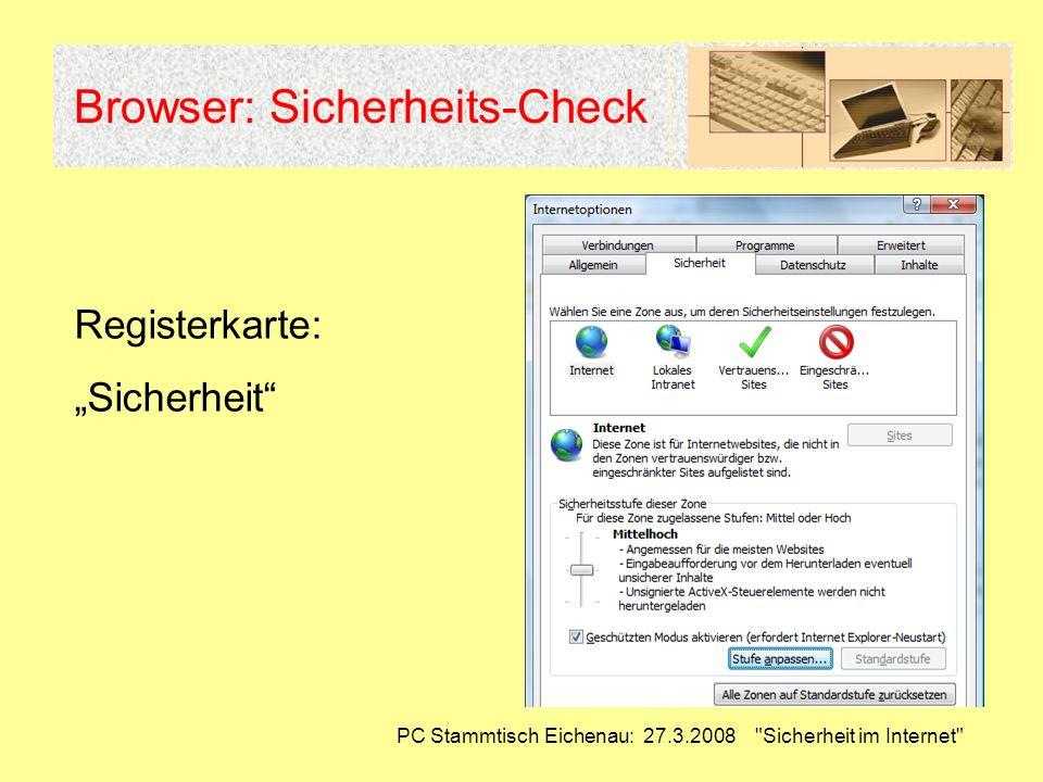 Browser: Sicherheits-Check