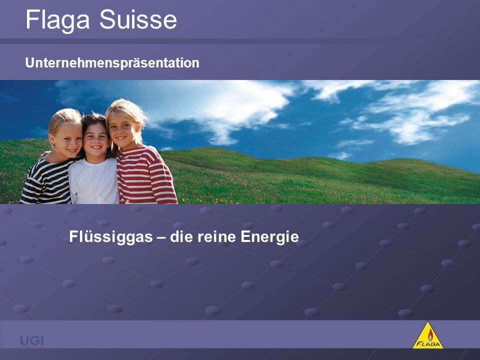 Flaga Suisse Unternehmenspräsentation Flüssiggas – die reine Energie