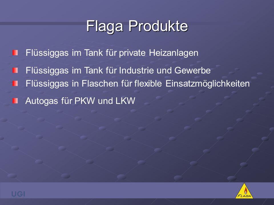 Flaga Produkte Flüssiggas im Tank für private Heizanlagen