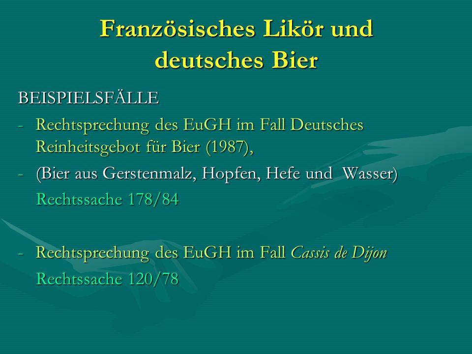Französisches Likör und deutsches Bier