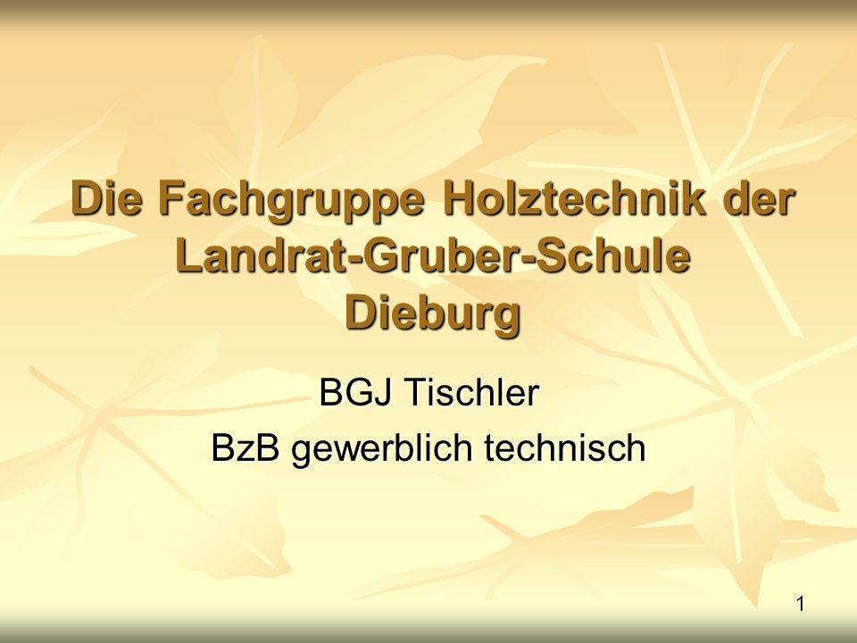 Die Fachgruppe Holztechnik der Landrat-Gruber-Schule Dieburg