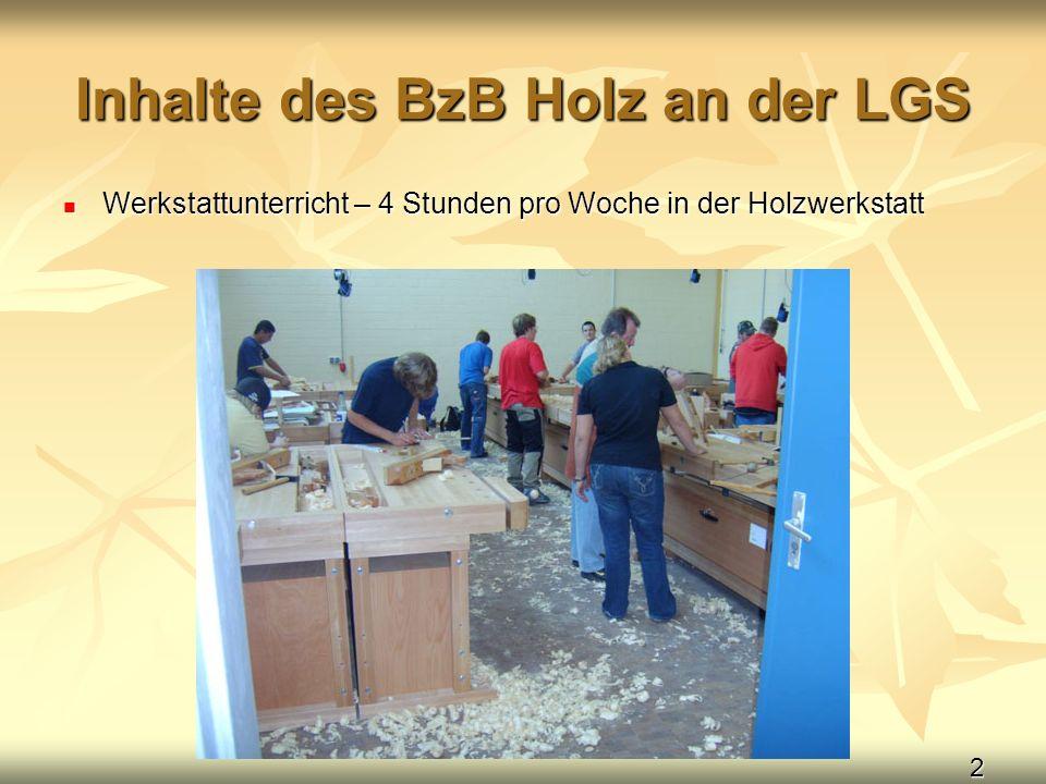 Inhalte des BzB Holz an der LGS