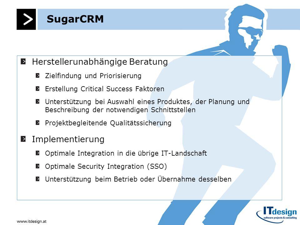 SugarCRM Herstellerunabhängige Beratung Implementierung