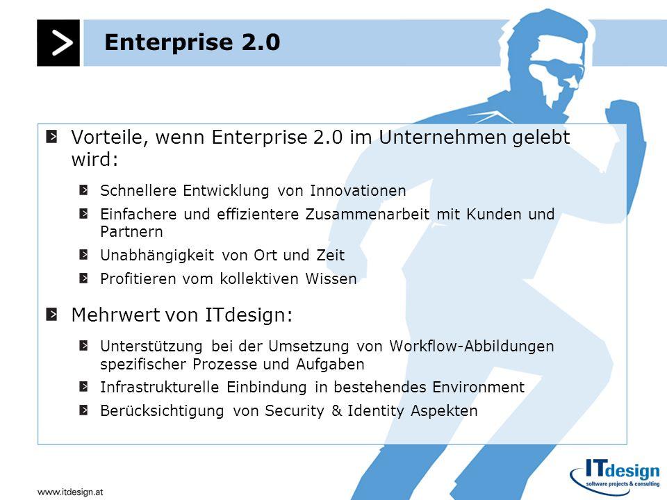 Enterprise 2.0Vorteile, wenn Enterprise 2.0 im Unternehmen gelebt wird: Schnellere Entwicklung von Innovationen.