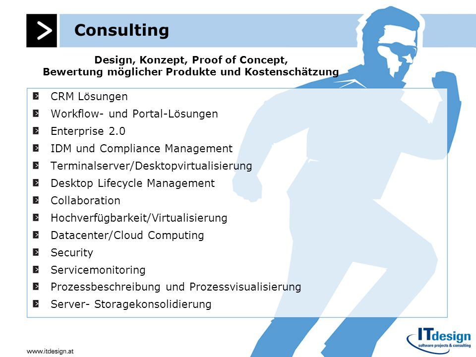 Consulting CRM Lösungen Workflow- und Portal-Lösungen Enterprise 2.0