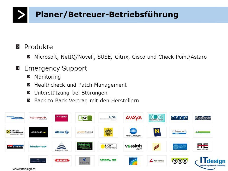 Planer/Betreuer-Betriebsführung