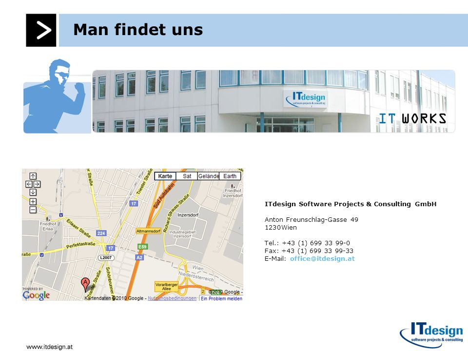 Man findet uns ITdesign Software Projects & Consulting GmbH