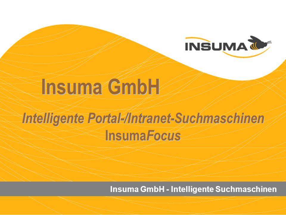 Intelligente Portal-/Intranet-Suchmaschinen InsumaFocus