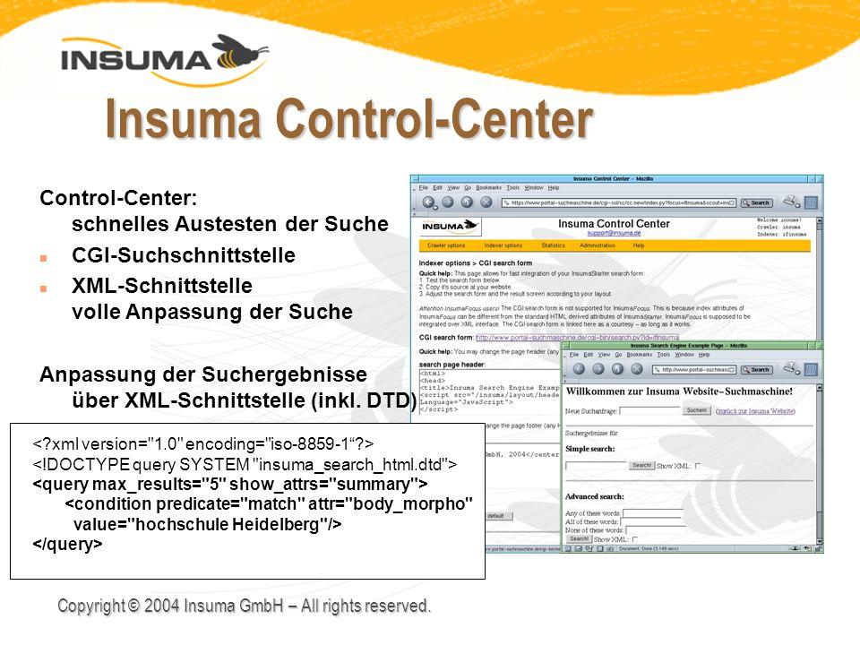 Insuma Control-Center