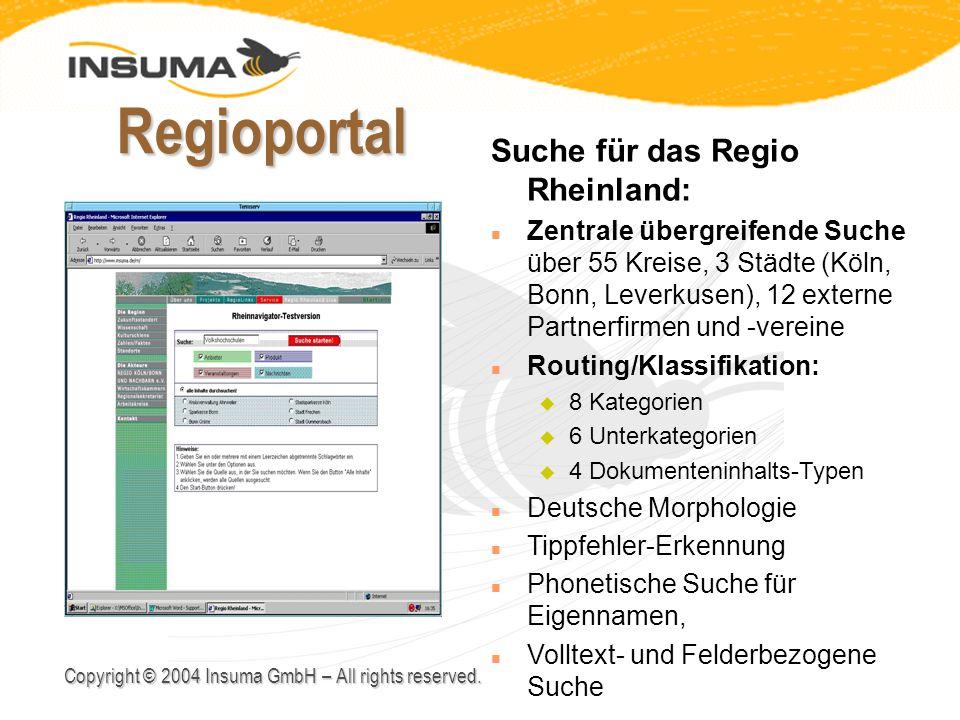 Regioportal Suche für das Regio Rheinland: