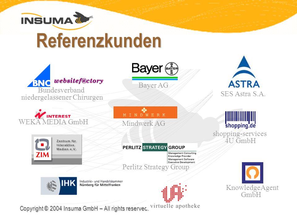 Referenzkunden Bayer AG Bundesverband niedergelassener Chirurgen