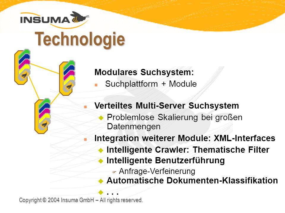 Technologie v Modulares Suchsystem: Suchplattform + Module