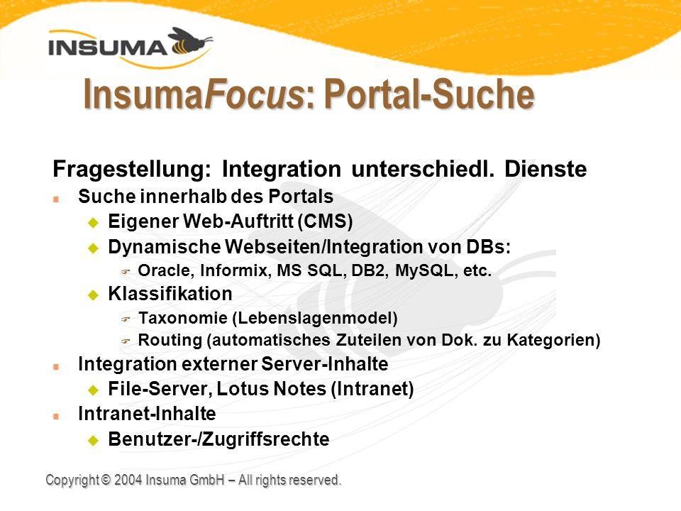 InsumaFocus: Portal-Suche
